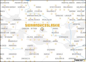 map of Siemianowice Śląskie