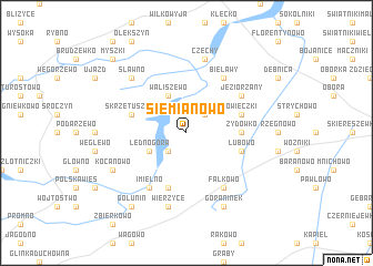 map of Siemianowo