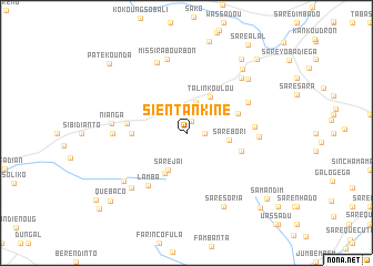 map of Sientankine