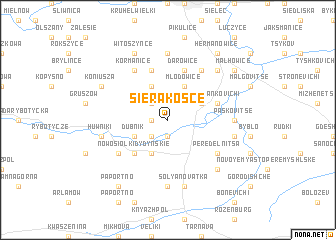 map of Sierakośce