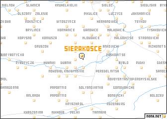 map of Sierakośce