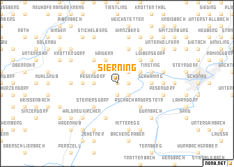 map of Sierning