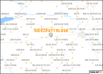 map of Sierzputy Młode