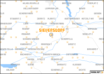 map of Sieversdorf