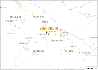 map of Sighnaghi