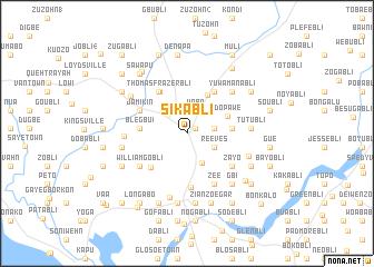 map of Sikabli