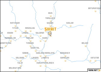 map of Sikait