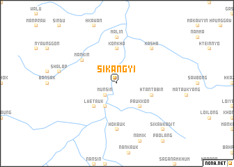 map of Sikangyi