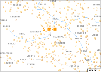 map of Šikmani