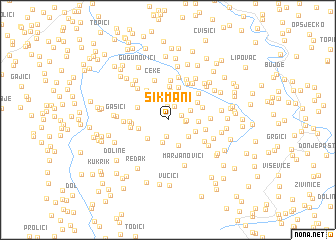 map of Šikmani