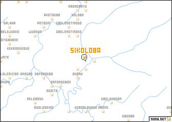 map of Sikoloba
