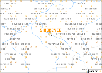 map of Sikorzyce
