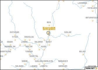 map of Sikuan