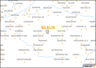 map of Šilelis