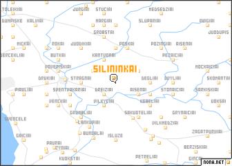 map of Šilininkai
