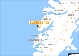 Map Of Silver Beach