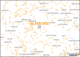 map of Silver Crest