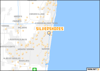 map of Silver Shores