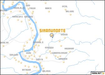 map of Simanu Norte