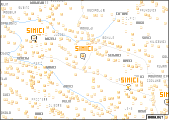 map of Šimići