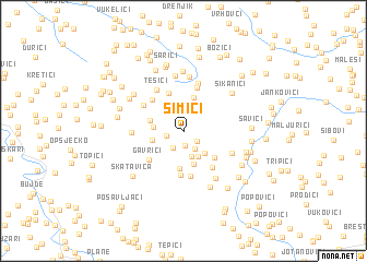 map of Simići