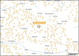 map of Simin Han
