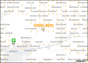 map of Simmelberg