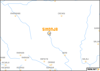 map of Simonja
