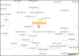 map of Simonovo