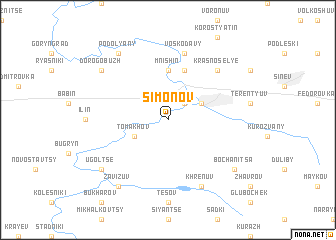 map of Simonov