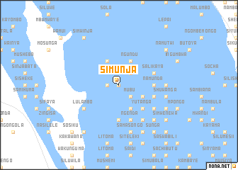 map of Simunja