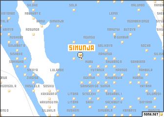 map of Simunja