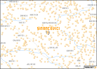 map of Sinančevići