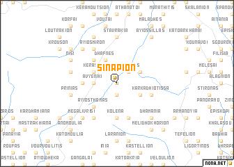 map of Sinápion