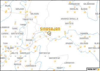 map of Sinasajan