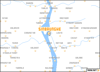 map of Sinbaungwe