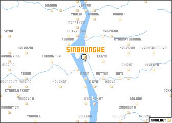 map of Sinbaungwe