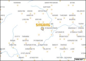 map of Singaing