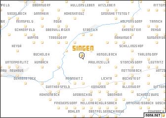 map of Singen