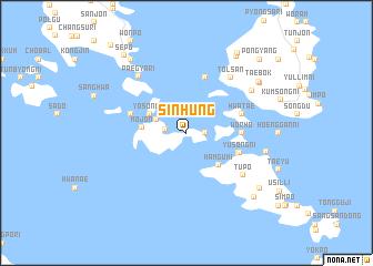 map of Sinhŭng