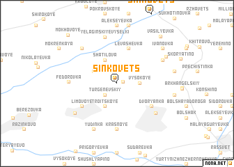 map of Sinkovets