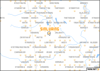 map of Sinlu-aing