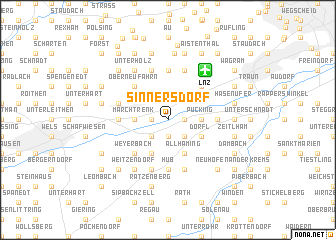 map of Sinnersdorf