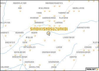 map of Sinoikismós Uzúnkoï