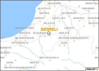 map of Sinopoli