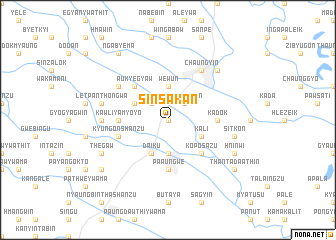map of Sinsakan