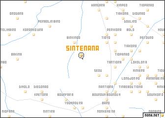map of Sinténana