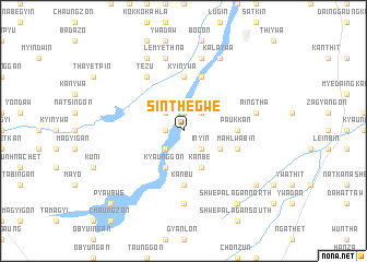 map of Sinthegwe