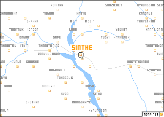 map of Sinthe