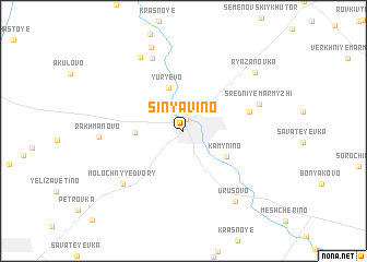 map of Sinyavino